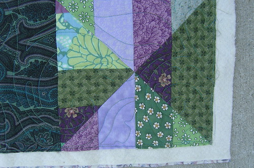 Purple & Green Coin (Corner Detail) by basketcasejoy