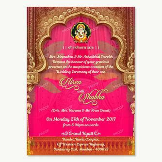Hindu Video Wedding Invitaions   Digital Hindu Wedding