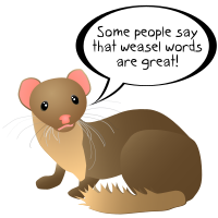 Weasel words.svg