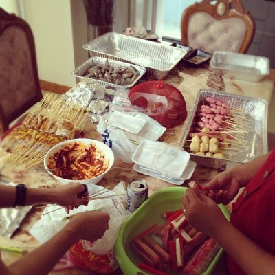 Just had a heavy lunch buffet and now we are preparing for BBQ for the night. Not that I'm complaining.. :P  (Taken with Instagram)