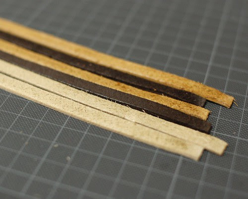 Making leather straps 2