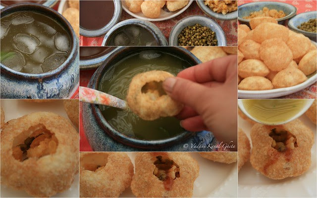 Panipuri all set up for serving