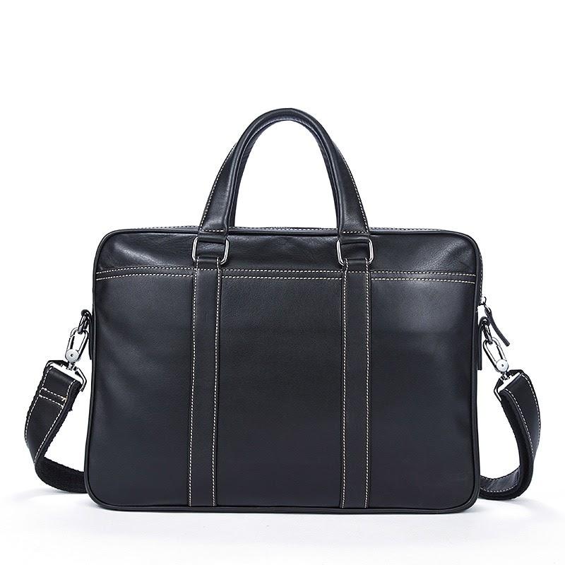 Buy Genuine Leather Men's Bag Bolso Hombre Business Men Cowhide Soft Handbag Briefcase Leather Laptop Computer Bag Bolso Ordenador