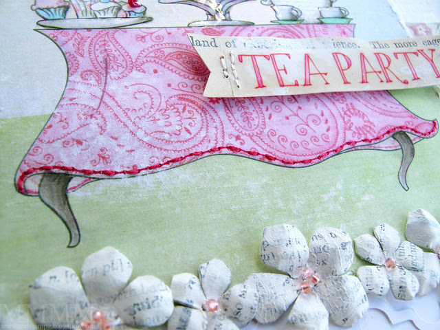 stitched table cloth