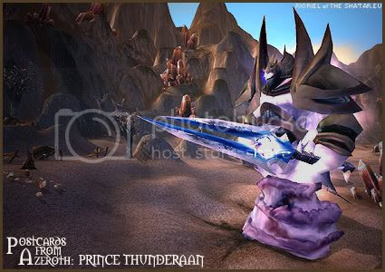 Postcards of Azeroth: Prince Thunderaan, by Rioriel of theshatar.eu