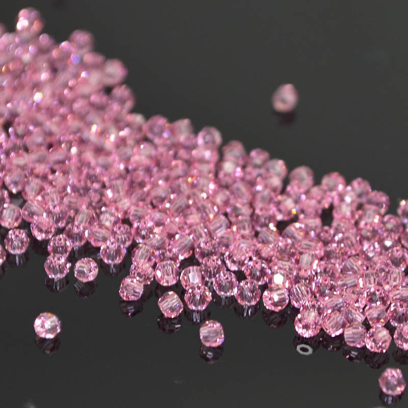 2775000s41238 Swarovski Elements Bead - 2 mm Faceted Round (5000) - Light Rose (72)