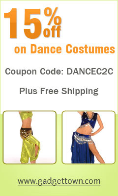 15% off on Dance Costumes at GadgetTown.com