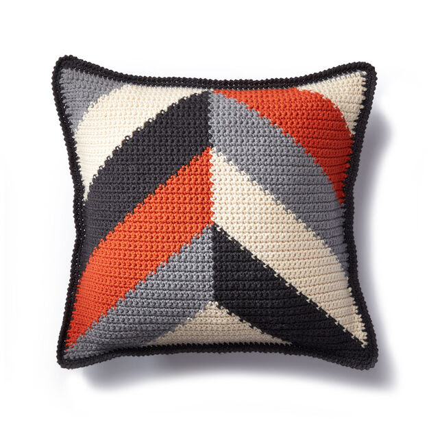 Caron Bold Angles Crochet Pillow