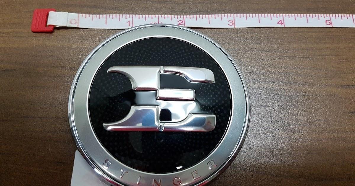Kia Stinger Genuine OEM Rear Trunk AWD GT Emblem Badge 2PC For 2018 2019