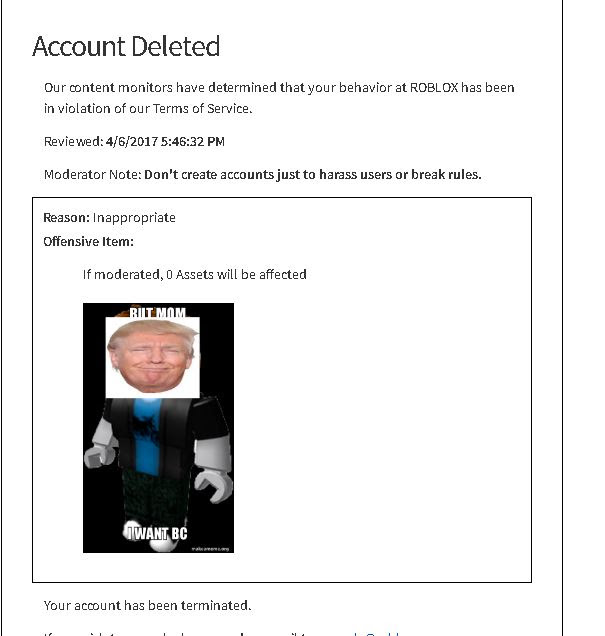 I Got Banned On Roblox Rip Xd - roblox banned users