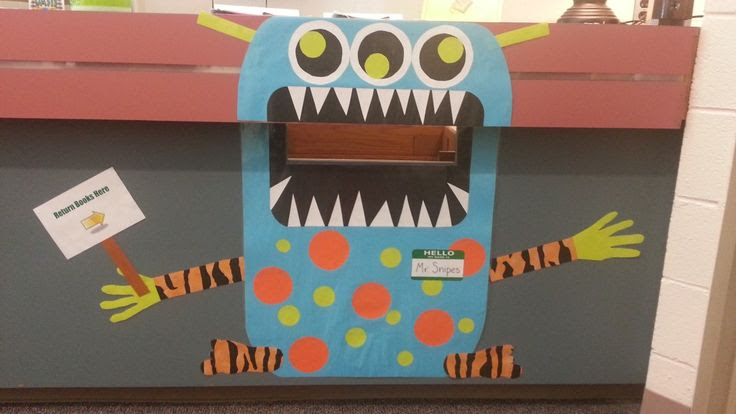 Book Drop Monster for the library book return