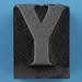 metal type letter Y