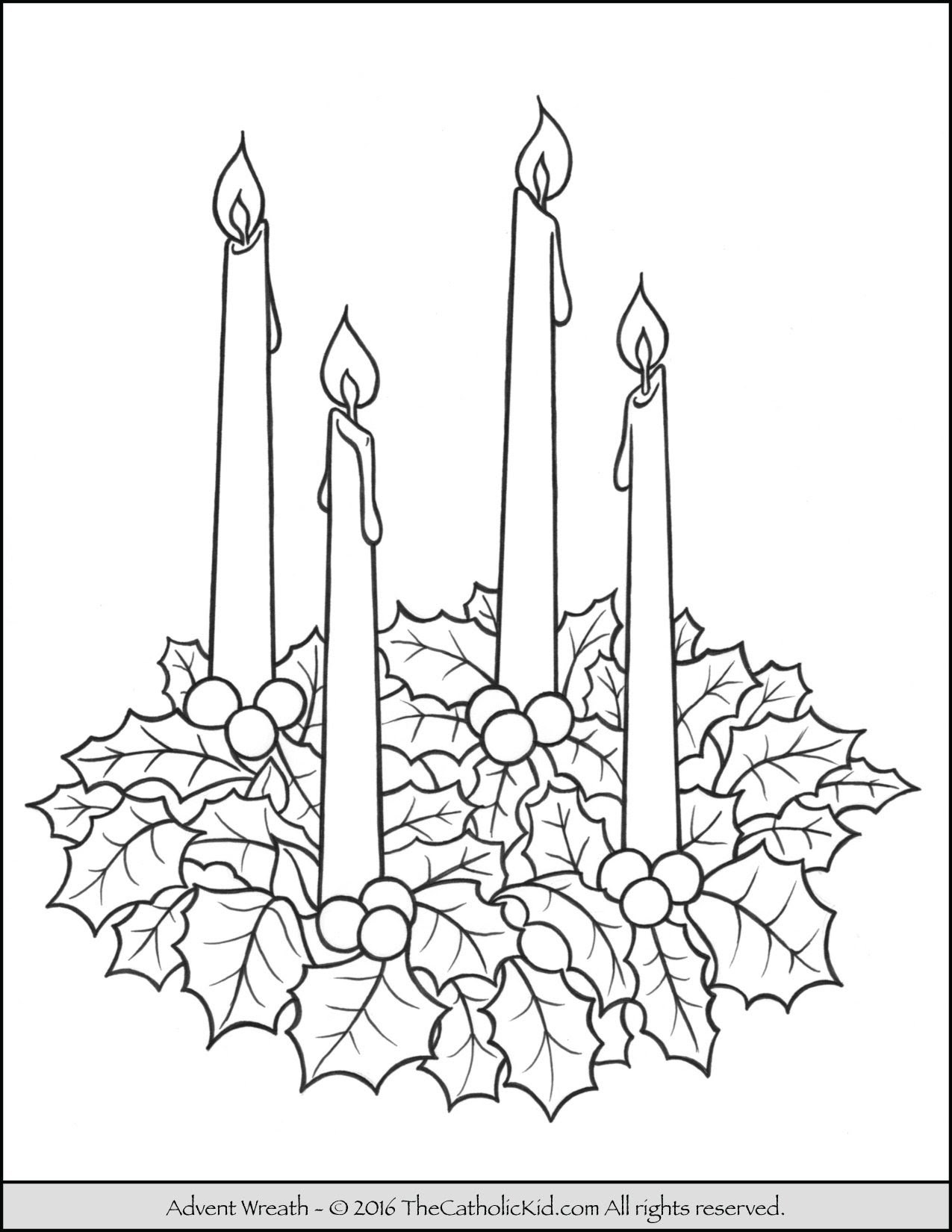 Free Catholic Advent Coloring Pages Coloring Walls