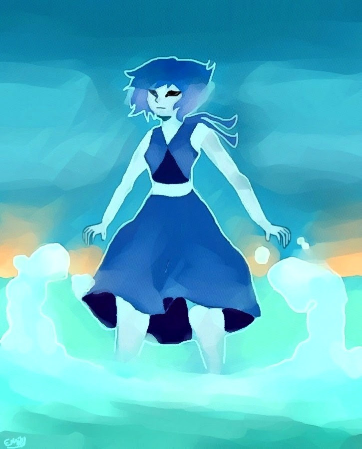 I'm chillin' in the morning so I painted Lapis Lazuli chillin' in the morning.