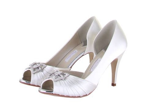 Rainbow Couture Shoes Chiara   Cheap Ivory Bridal Shoes
