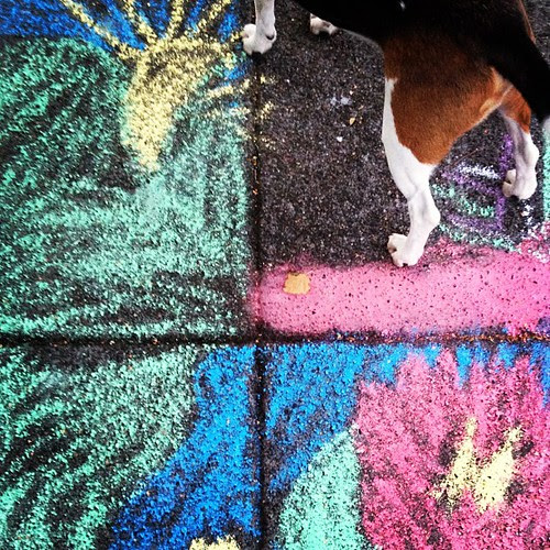 To be continued... #beaglesofinstagram #sidewalkart #chalkart #thelongtail #seattle