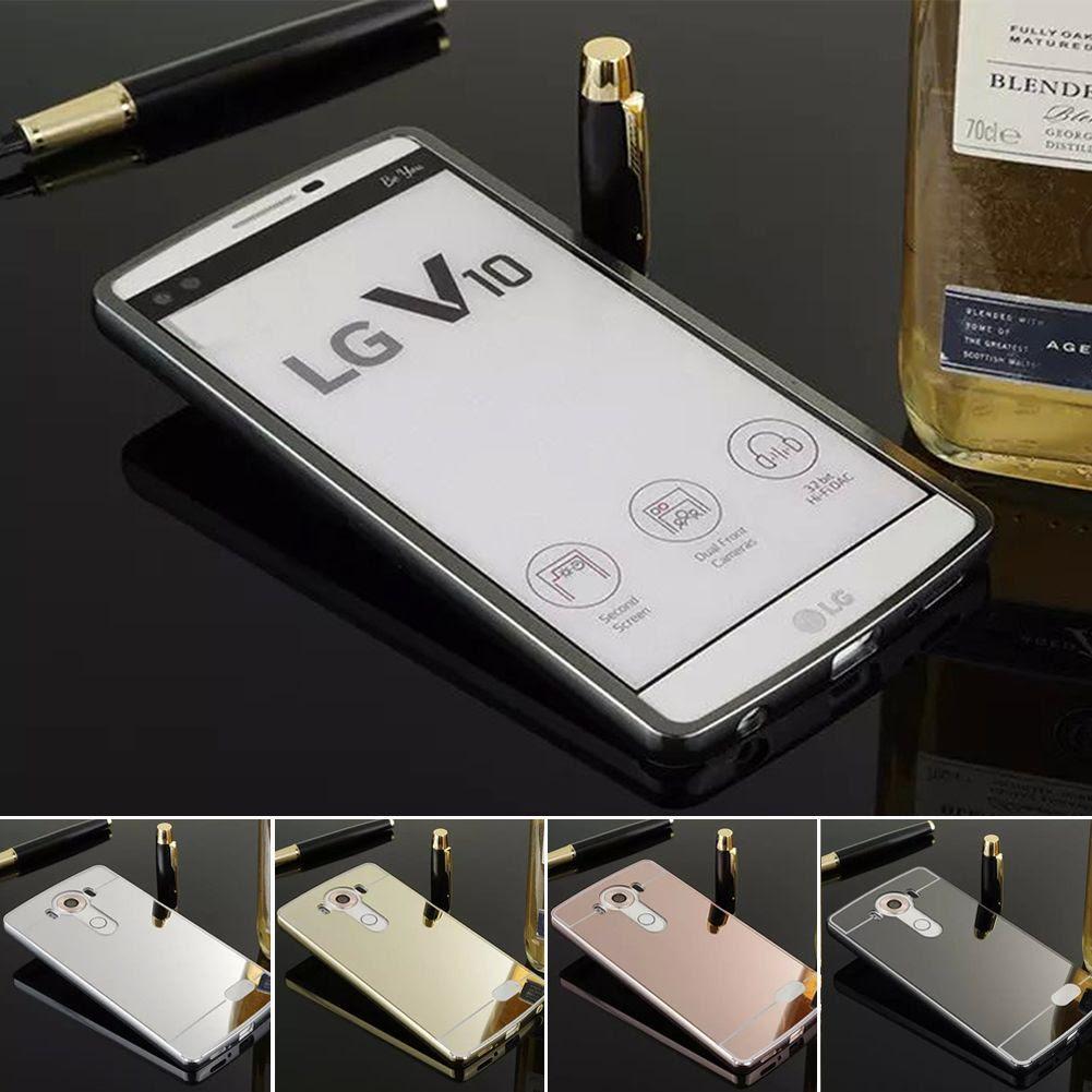For LG V10 Luxury Aluminum Metal Bumper + Mirror PC Back Case Skin Cover | eBay