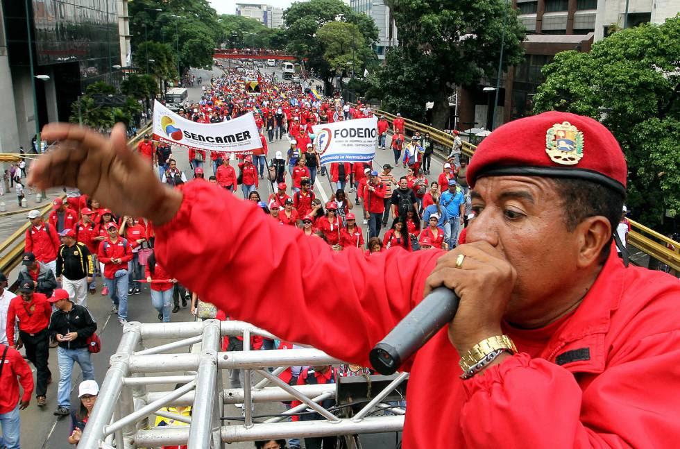 Concentración oficialista en apoyo al Gobierno de Nicolás Maduro.