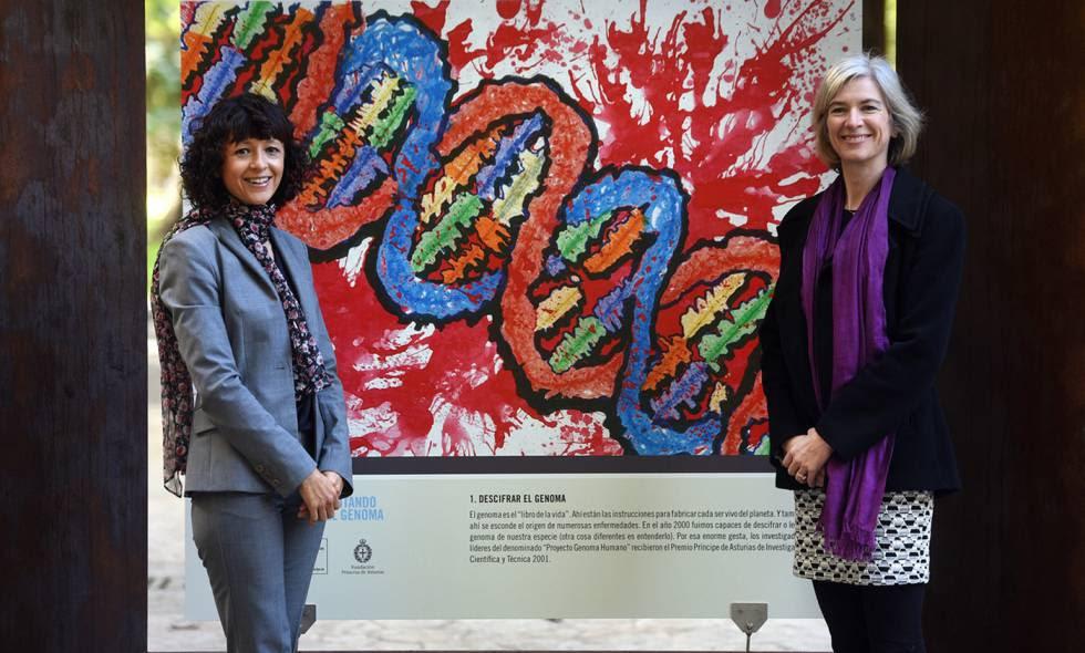 Las científicas Emmanuelle Charpentier y Jennifer Doudna, Premio Princesa de Asturias de Investigación Científica y Técnica 2015.