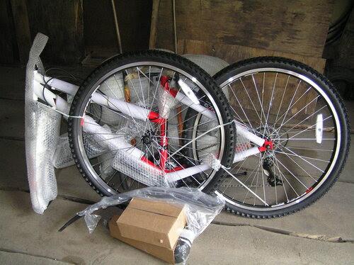 Велосипед кучкой