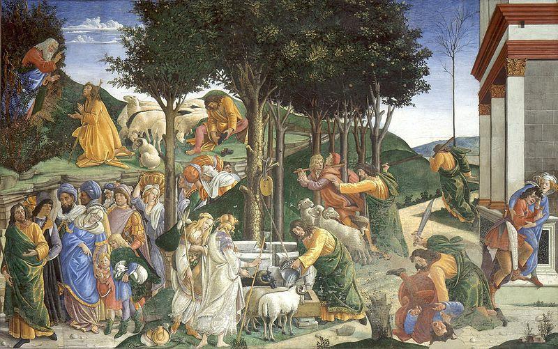 Fil: Eventos de la Vida de Moisés (Sandro Botticelli) JPG.