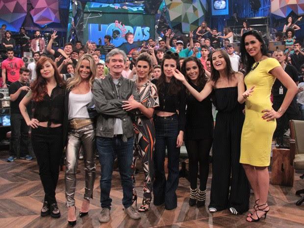 Serginho Groisman comanda programa só com convidadas mulheres (Foto: Marcos Mazini/Gshow)