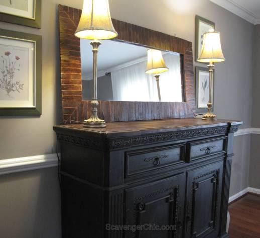 Pier 1 Inspired Pallet Wood Mirror
