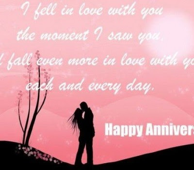 I Fell In Love With You The Moment I Saw You Anniversary Quote