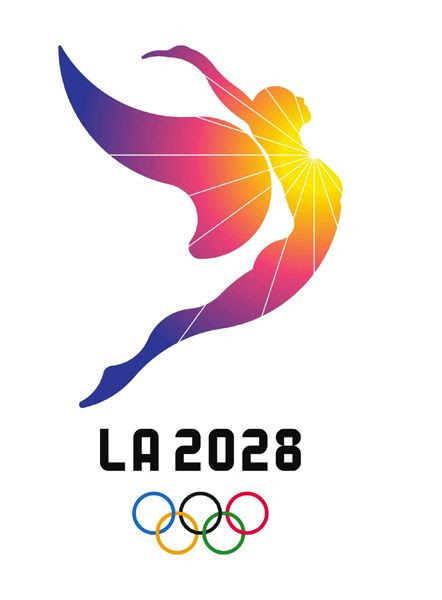 The official logo for the 2028 Summer Olympic Games in Los Angeles.