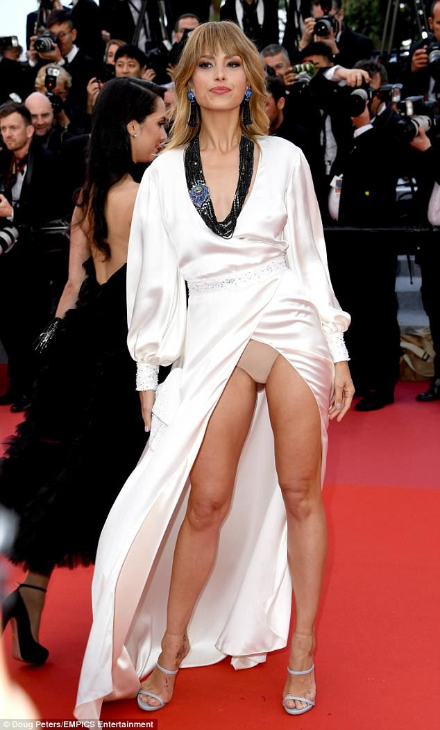 Oops: Unfortunately, Petra turned heads for all the wrong reasons as she flashed her underwear on the red carpet