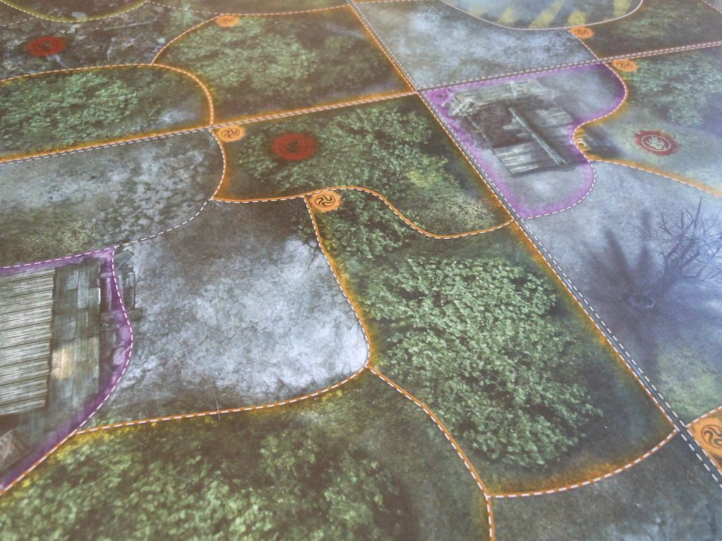 Close up view of some of the board sections from the Fireteam Zero board game.