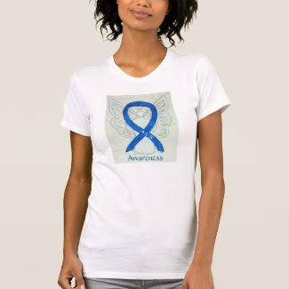 ALS Awareness Blue Ribbon Angel Custom Shirt