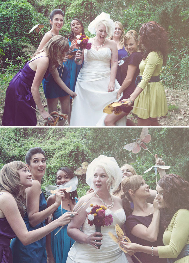 Real Wedding: Khali + Potsch's Whimsical DIY Wedding | Green ...
