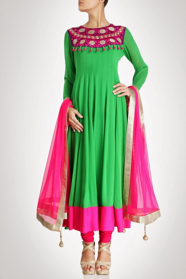 Girls-Women-Wear-Beautiful-Anarkali-Churidar-Gotazari-Frock-New-Fashion-Outfits-7