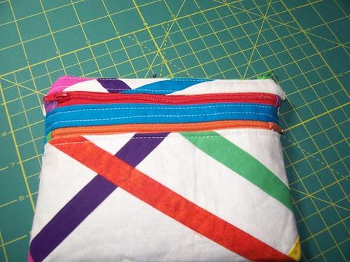 rainbow linen pouch