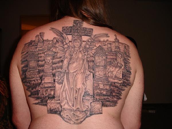 angel wing tattoo. angel wings back tattoo. angel