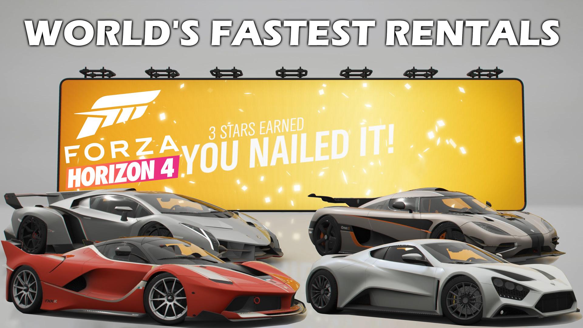 Forza Horizon 4 World S Fastest Rentals All 3 Stars Freelancergamer