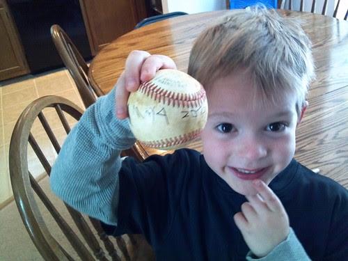 2nd career game ball.