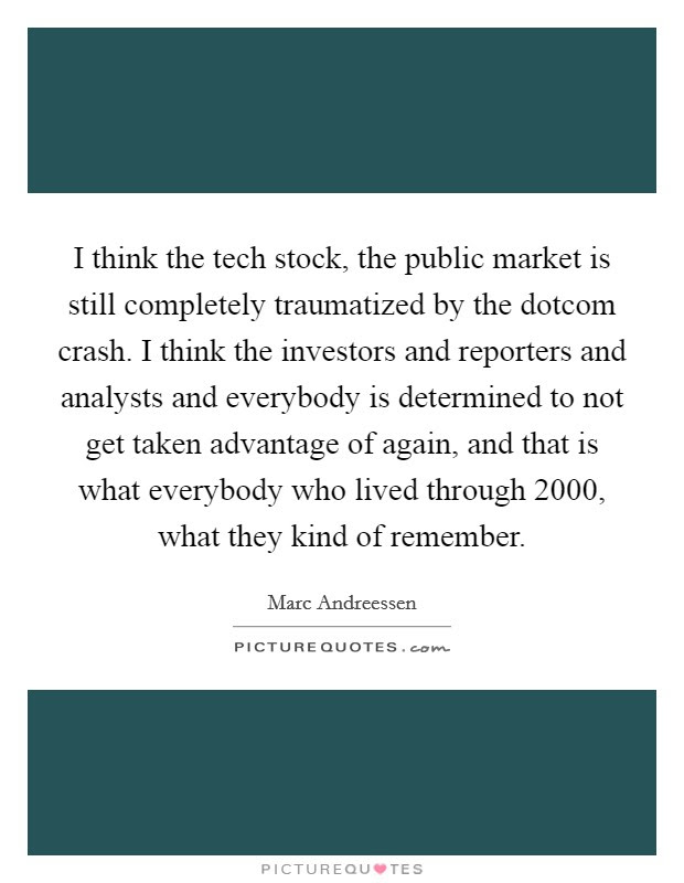 I Think The Tech Stock The Public Market Is Still Completely