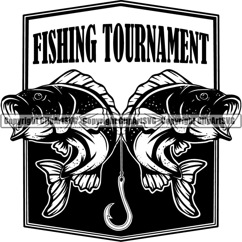 Download Sports Game Fishing Tournament Fish Hunt Bass Logo Clipart Svg Clipart Svg