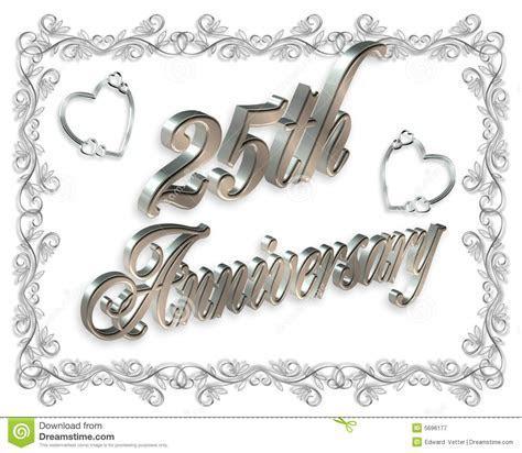 25th wedding Anniversary stock illustration. Image of