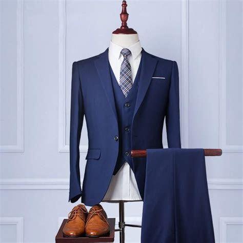 Custom Wedding Suit?Handmade?Mens Suit Wool Blend 3piece