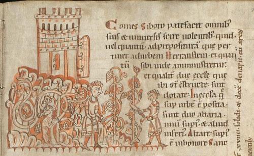 Falkensteiner Codex 1166-1199 (detail) agriculture