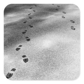Footprints in Snow sticker
