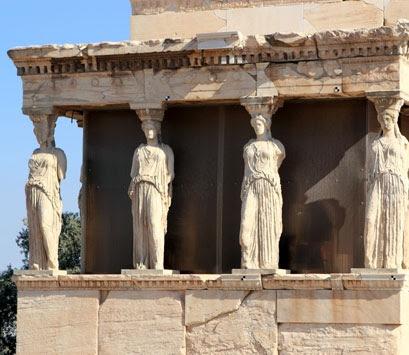 Cariátides de la Acrópolis de Atenas