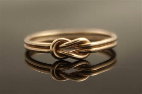 Double band infinity heart wedding ring   OneWed.com