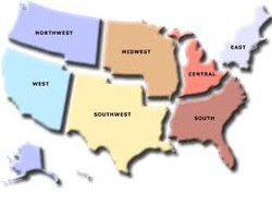 Usa Map States And Capitals List