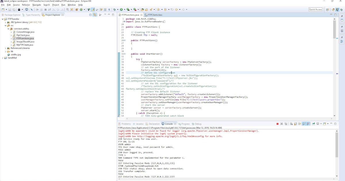 List files in ftp directory java