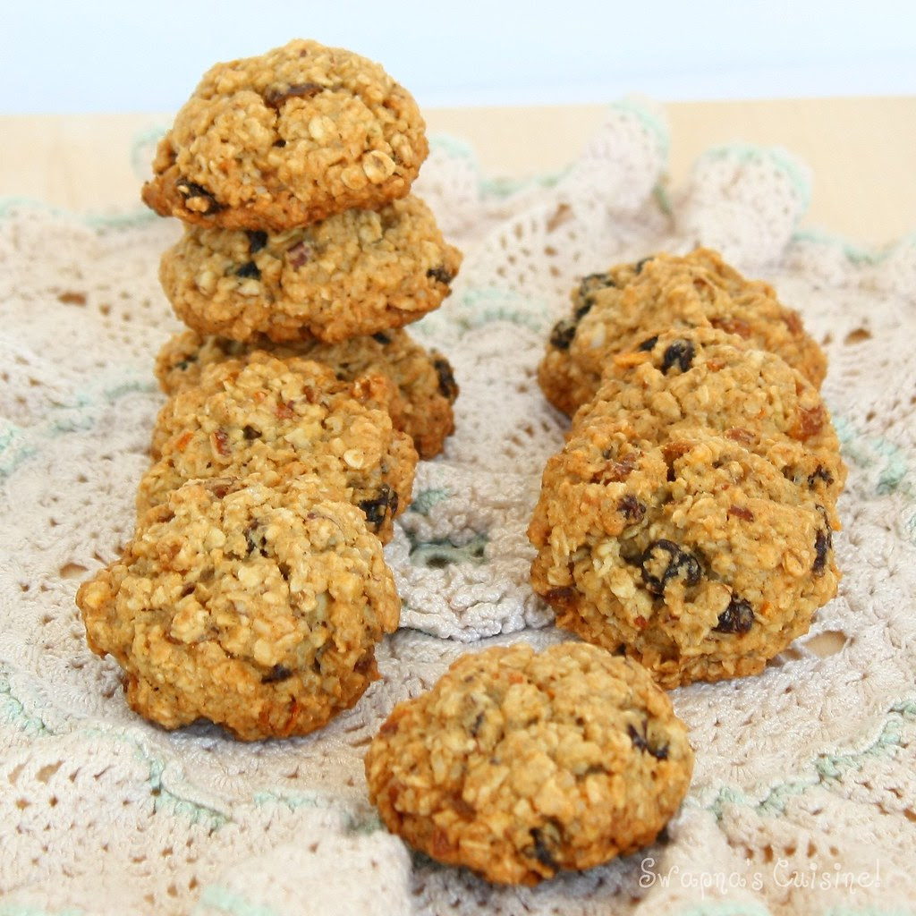 Whole Wheat & Oat Raisin Cookies