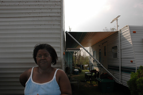 woman who lived through storm in front of fema trailer11-1web copy